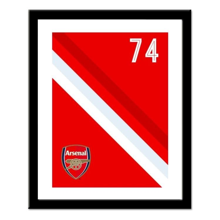 Arsenal FC Personalised Framed Stripe Print