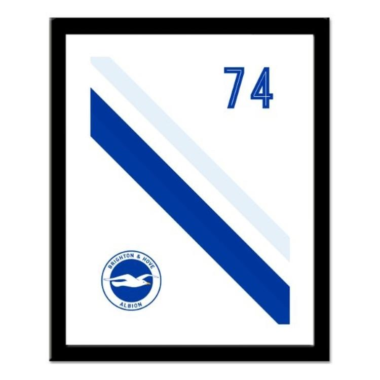 Brighton and Hove Albion FC Personalised Framed Stripe Print