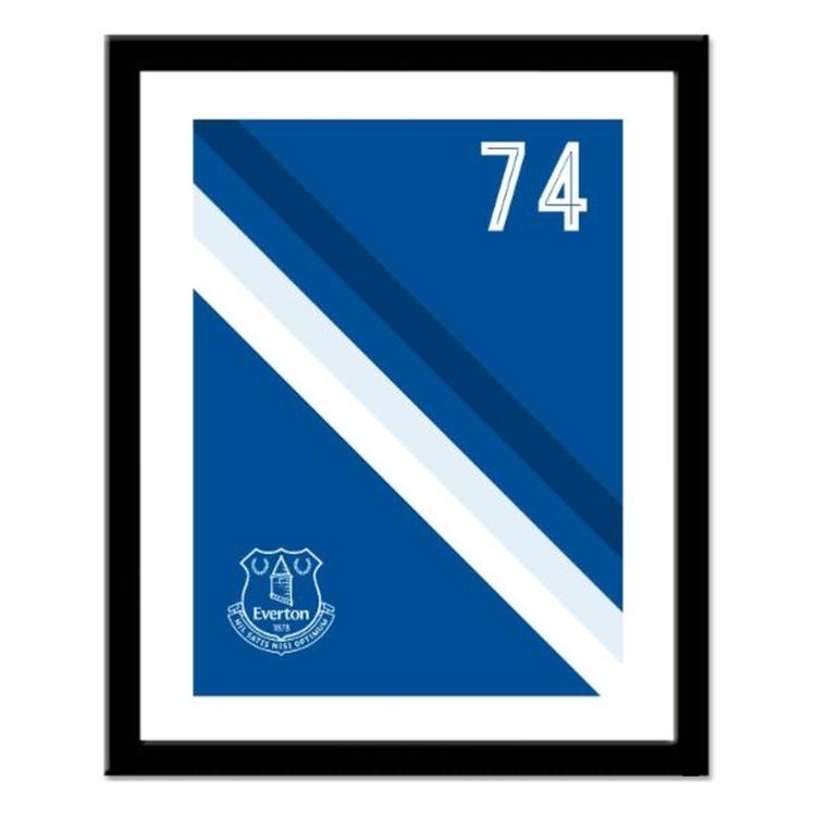 Everton FC Personalised Framed Stripe Print